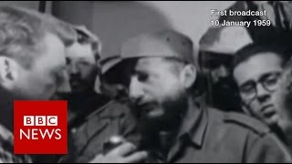 Fidel Castro on his beard, free election & gambling (1959)   BBC News