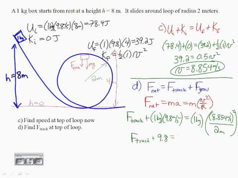 Conservation of Energy Example Problems - Part 1