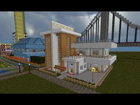 Minecraft super casas modernas capitulo 1 youtube for Casas super modernas