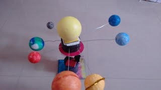 how to make a rotating/spinning Solar System DIY project