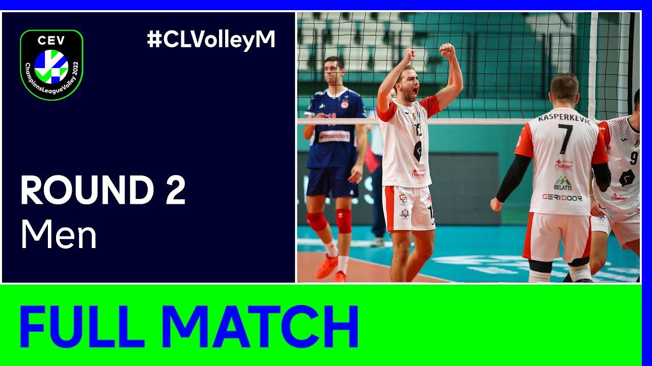 Rieker UJS KOMÁRNO vs. Olympiacos PIRAEUS - CEV Champions League Volley 2022 Men | Round 2