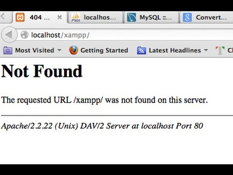 404 not found page and Apache server error solution
