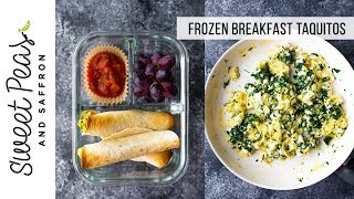 Spinach & Feta Breakfast Taquitos | Freezer, Meal Prep