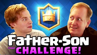 Clash Royale ♦ Father Vs. Son Royale Challenge! ♦ Galadon Vs. Chief Pat! ♦