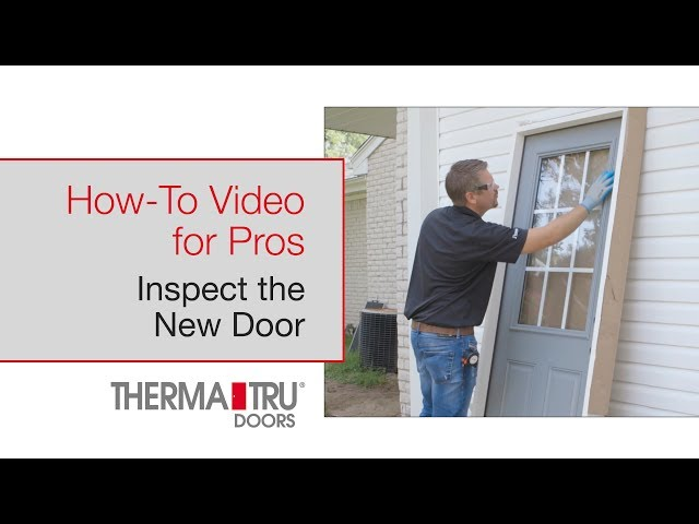 How-To for Pros: Inspect New Door
