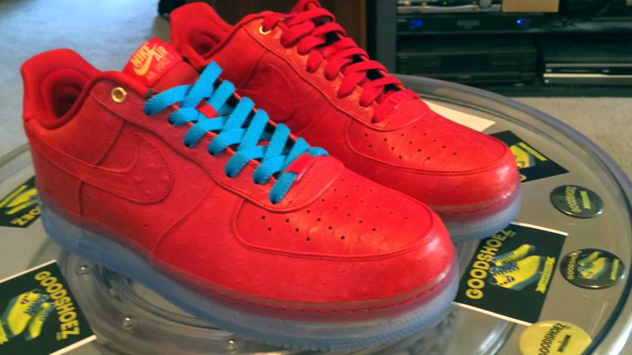 Nike Shoes | Air Force 1 Cmft Lux Low Ostrich Red Sz 11