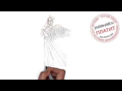 Как научиться рисовать ангела   Как нарисовать красивого ангела поэтапно