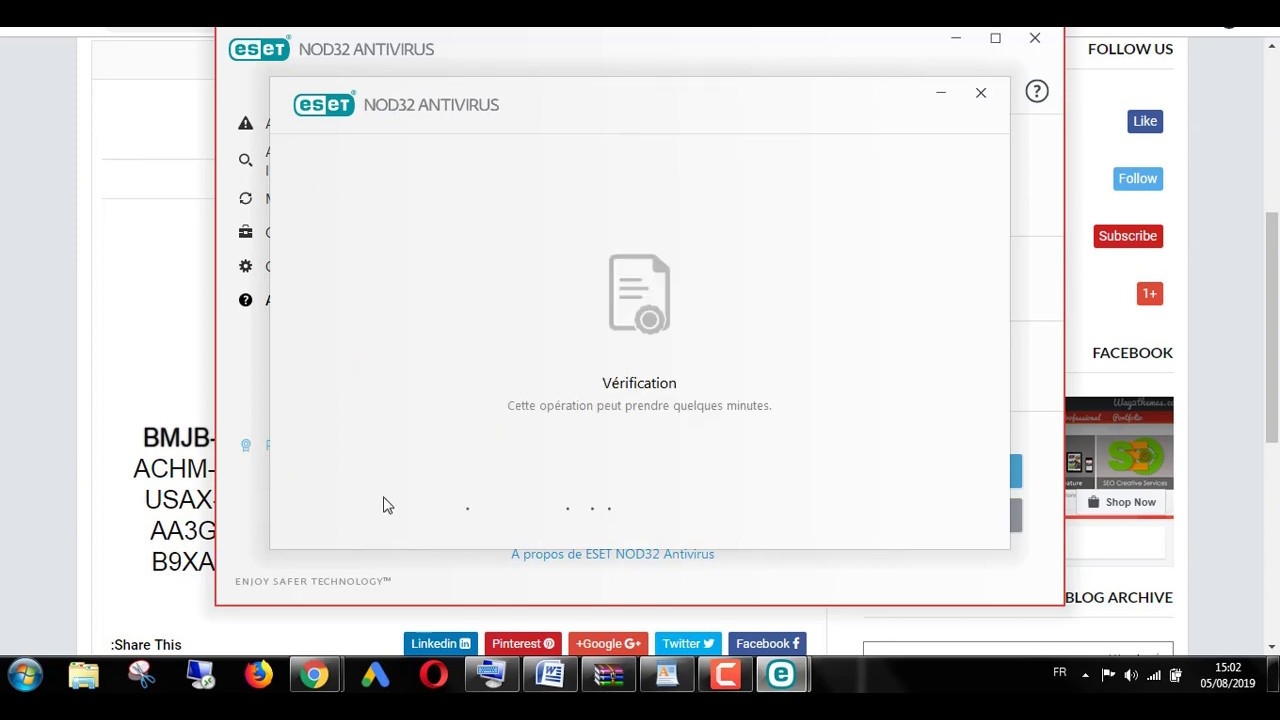 eset nod32 antivirus 12 license key 2020 workiniiig - YouTube