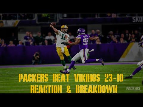 Packers Beat Vikings 23-10 Reaction & Breakdown