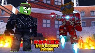 Roblox - BRUNO SE CONVIERTE EN IRONMAN!!! w/ Tiny Turtle & Scuba Steve - Super Hero Tycoon