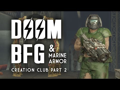 Doom BFG & Marine Armor: Plus, Chrome & Cammo Power Armor Paint - Fallout 4 Creation Club