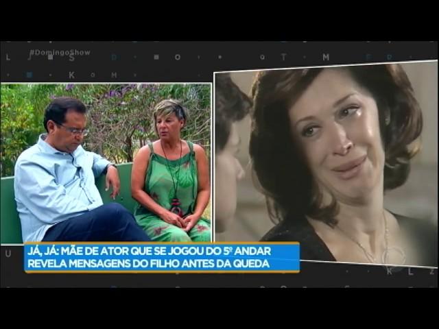Mãe de Vitor Morosini fala que filho se jogou de prédio por crise psicótica
