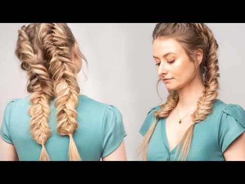 How To: Double Dutch Fishtail Braids | Milk + Blush Hair Extensions