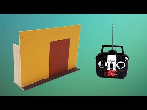 Cómo Hacer Una Maqueta de Puerta a Control Remoto (muy fácil de hacer)
