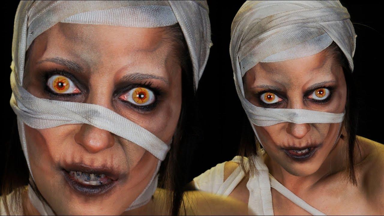 maquillage halloween momie