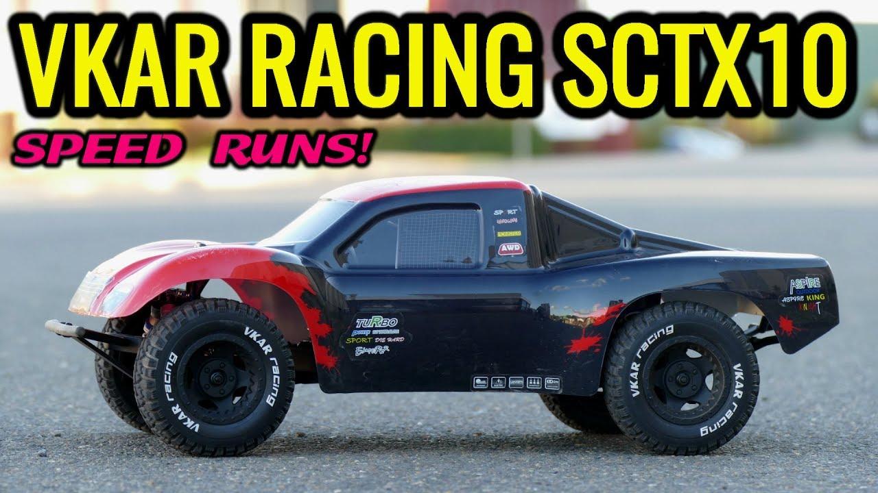 VKAR RACING SCTX10 V2 4x4 Short Course Truck - Speed Runs, Very