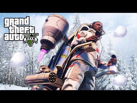 GTA 5 - SNOW & SNOWBALL FIGHTS!! (GTA 5 Christmas DLC 2017 Update)