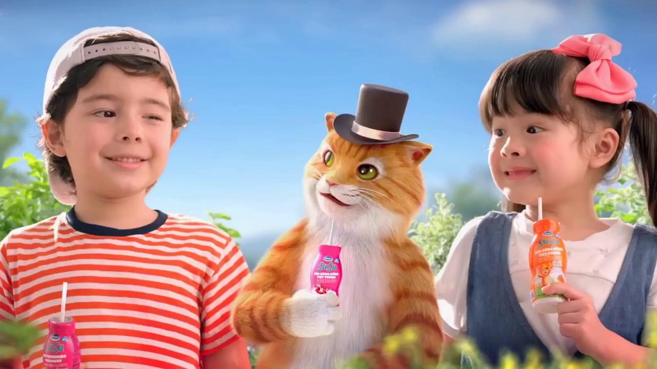 Quảng cáo mới hấp dẫn Giải cứu nàng mèo sữa chua vinamilk susu