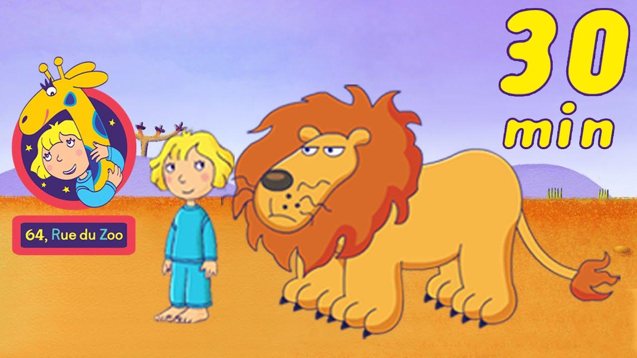 30 Min De 64 Rue Du Zoo Compilation Avec Le Lion Reginald Hd Dessin Anime En Francais Youtube