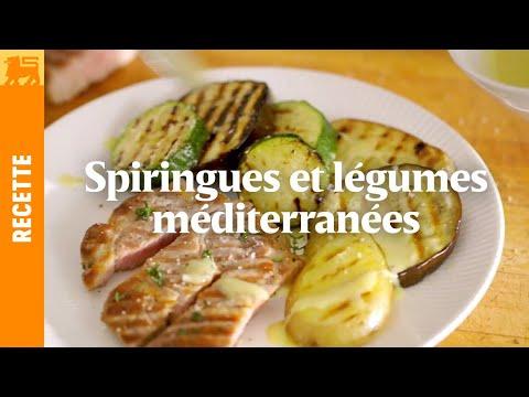 Spiringues et légumes méditerranéens | Recette 3€