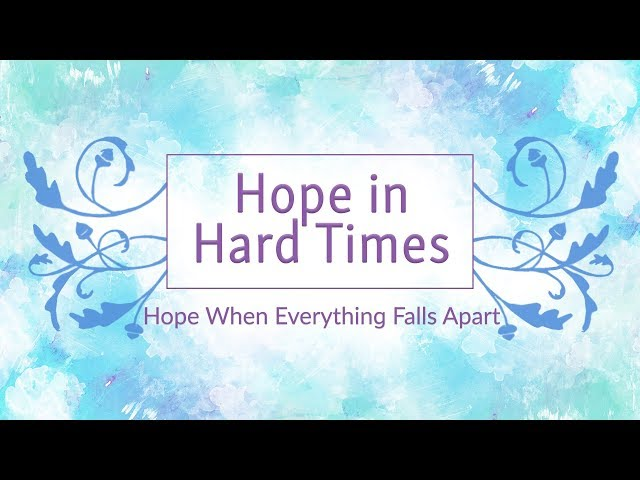 September 16, 2018: David Chotka - Hope in Hard Times: When Everything Falls Apart