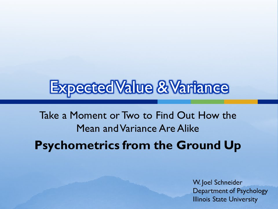 how to find variance from expected value