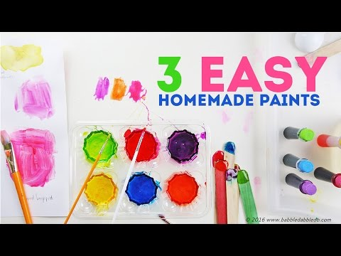 How to Make Paint: 3 Easy Homemade Paints   CREATIVE BASICS Episode 4