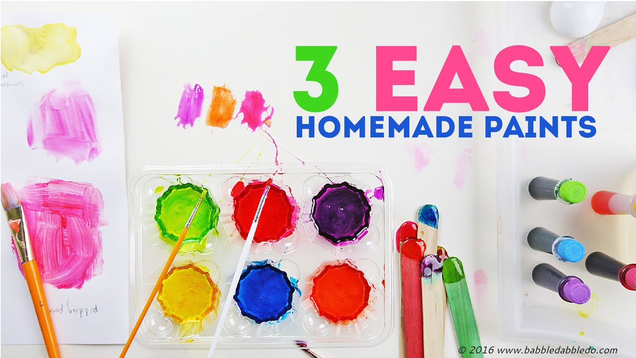 How To Make Paint 3 Easy Homemade Paints Creative Basics Episode