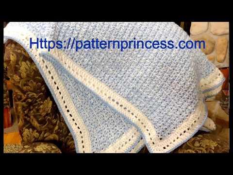Modern Double Crochet V-Stitch Chunky Blanket Part 1 of 2