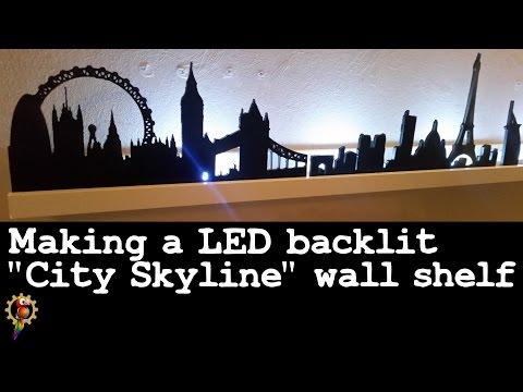 Making a backlit shelf - City Skyline theme
