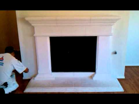Antique Glaze Cast Stone Fire Place Preparation - YouTube