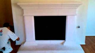 Antique Glaze Cast Stone Fire Place Preparation