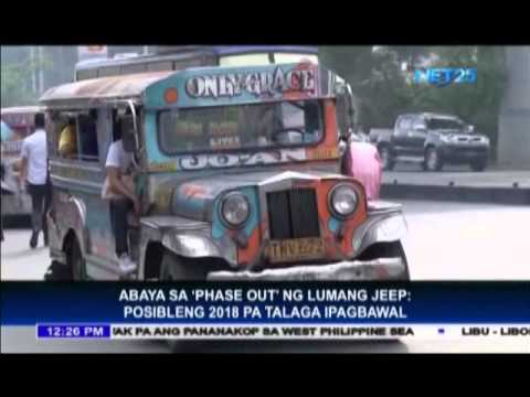 Jeepney phase-out may be implemented in 2018