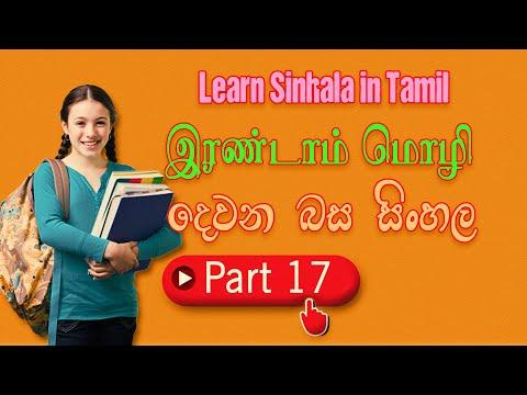 Learn Sinhala In Tamil | | Sri Lanka National Language | சிங்களம் கற்போம் Part 17 #Learn_Sinhala