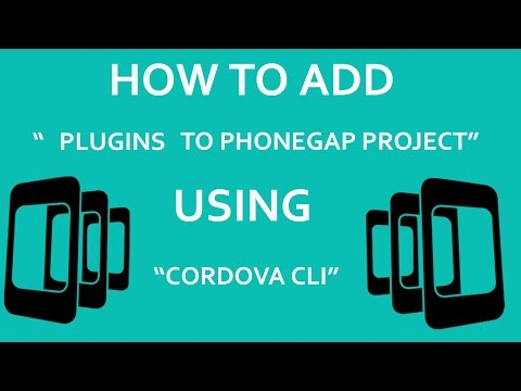 How To Add OR Remove Plugins In Phonegap?