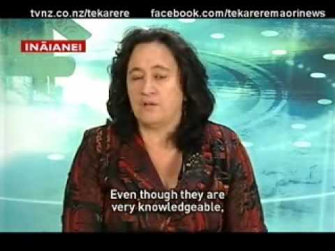 Maori lawyer Annette Sykes talks live about the seabed & foreshore Te Karere Maori News TVNZ