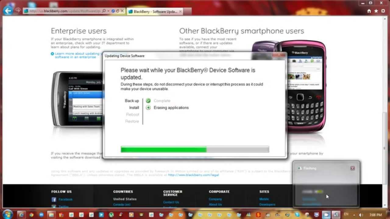 download latest software version blackberry 9700