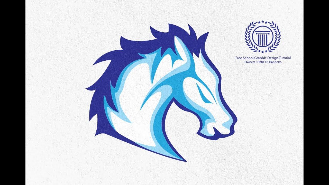 Horse Logo Design Tutorial In Adobe Illustrator No Coreldraw X7 No Adobe Photoshop
