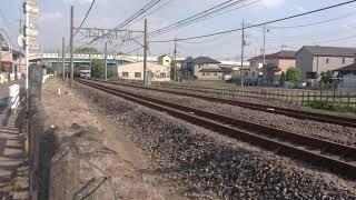 銀タキ連結貨物列車とE257系NA-05編成配給