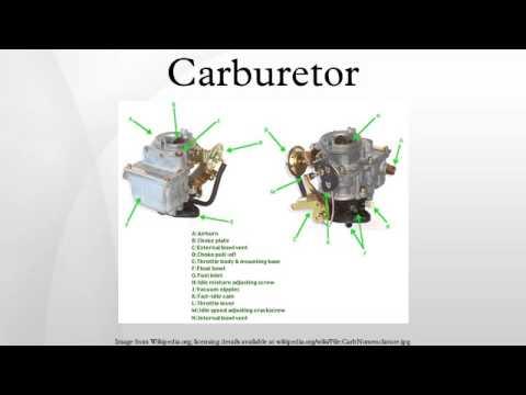 Bendix-stromberg single barrel downdraft type carburettor
