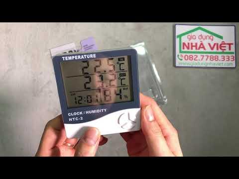 Hướng dẫn sử dụng đồng hồ HTC-2 hẹn giờ đo độ ẩm nhiệt độ
