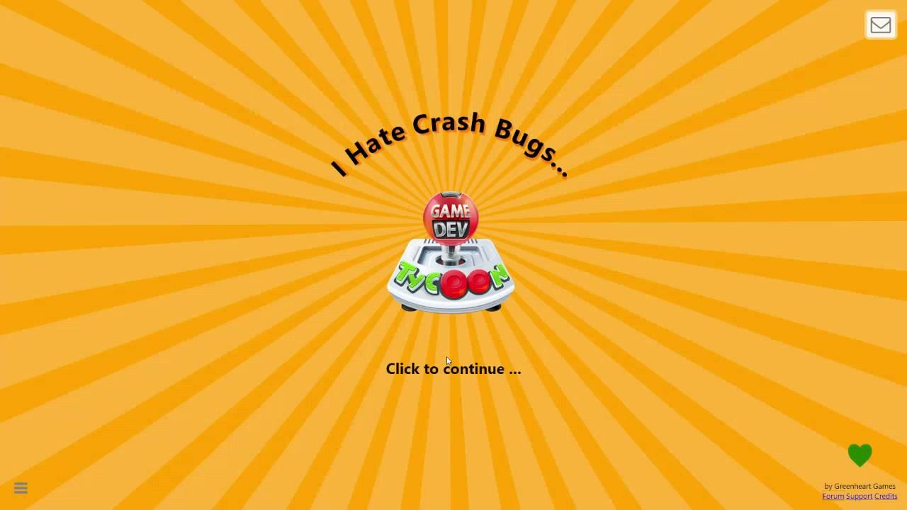 Game Dev Tycoon: Bug Report - 2 Min Crash lead