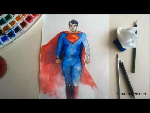 superman vs batman / Sanatın Renkleri / Sulu Boya