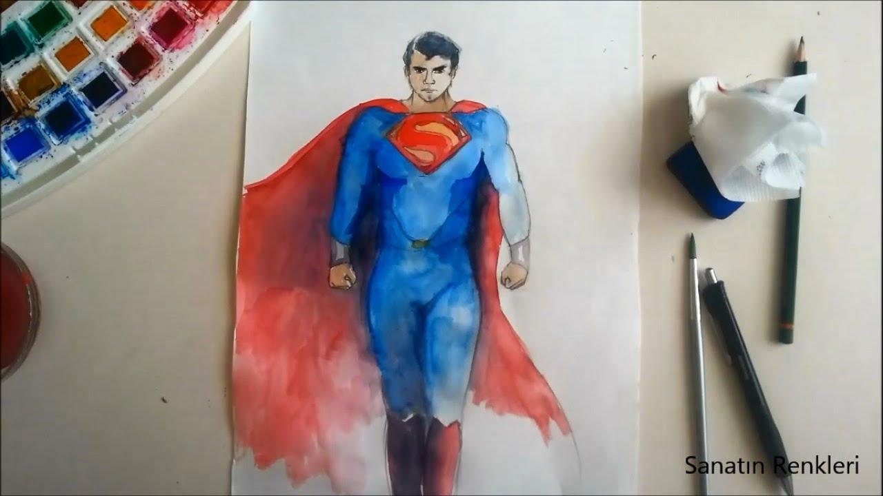 Superman Vs Batman Sanatin Renkleri Sulu Boya Youtube