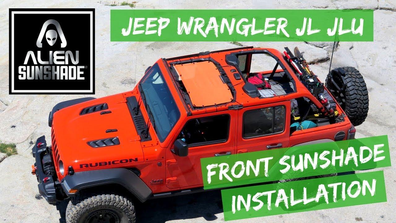 1c083ed3625 Alien Sunshade Jeep Wrangler JL & JLU JLF Front Shade Installation Video