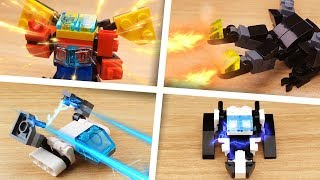 lEGO Mini Robot Film LEGO Transformers and Combiners Mecha stop motion animation compilation 1