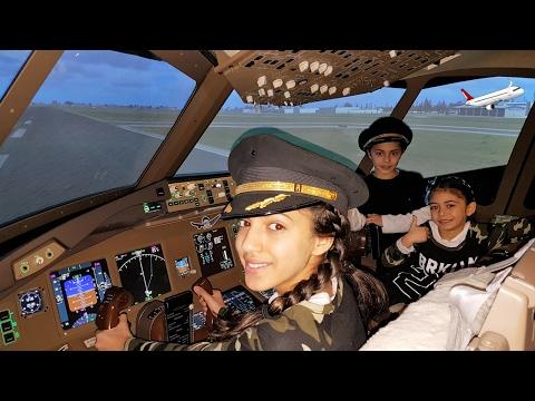 Bad Kids Driving! Kids Flying Airplane To DISNEYLAND! Family fun Video (Skit) HZHtube Kids Fun