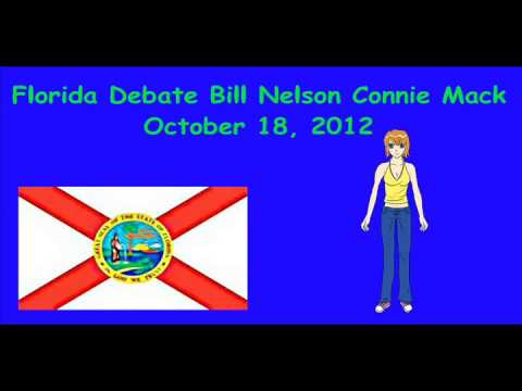 Florida Debate Bill Nelson Connie Mack