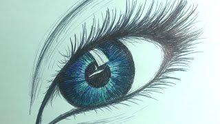 Como desenhar Olho com Caneta BIC