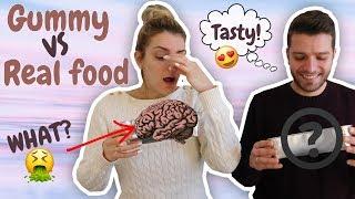 Gummy VS Real Food! Έφαγα ότι πιο σιχαμερό | Marinelli